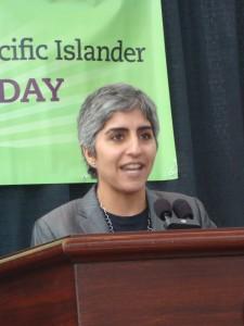 Kiran Ahuja gives her keynote speech